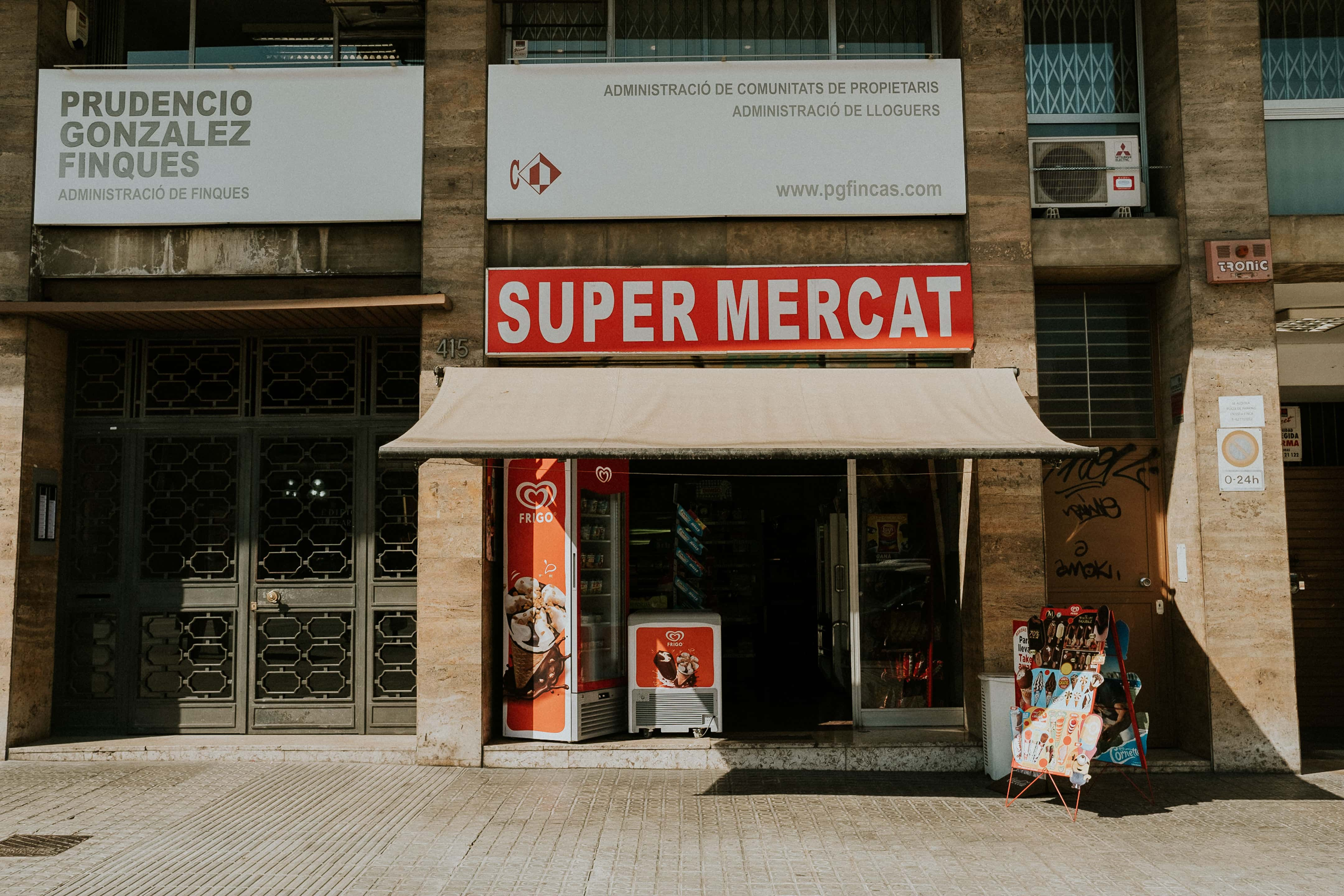 Super Market on the streets of Barcelona