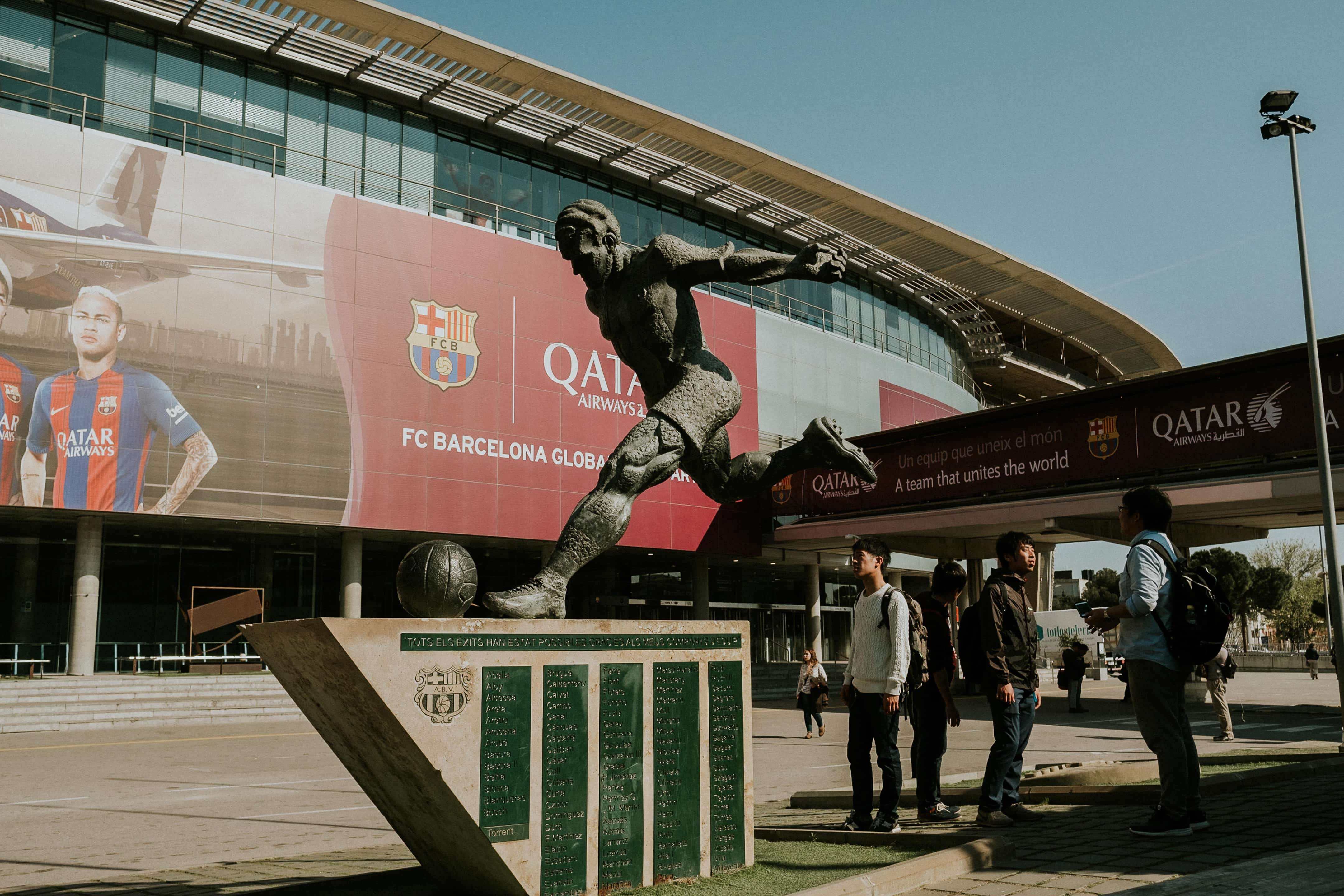 Statue outside Camp Nou, Barcelona