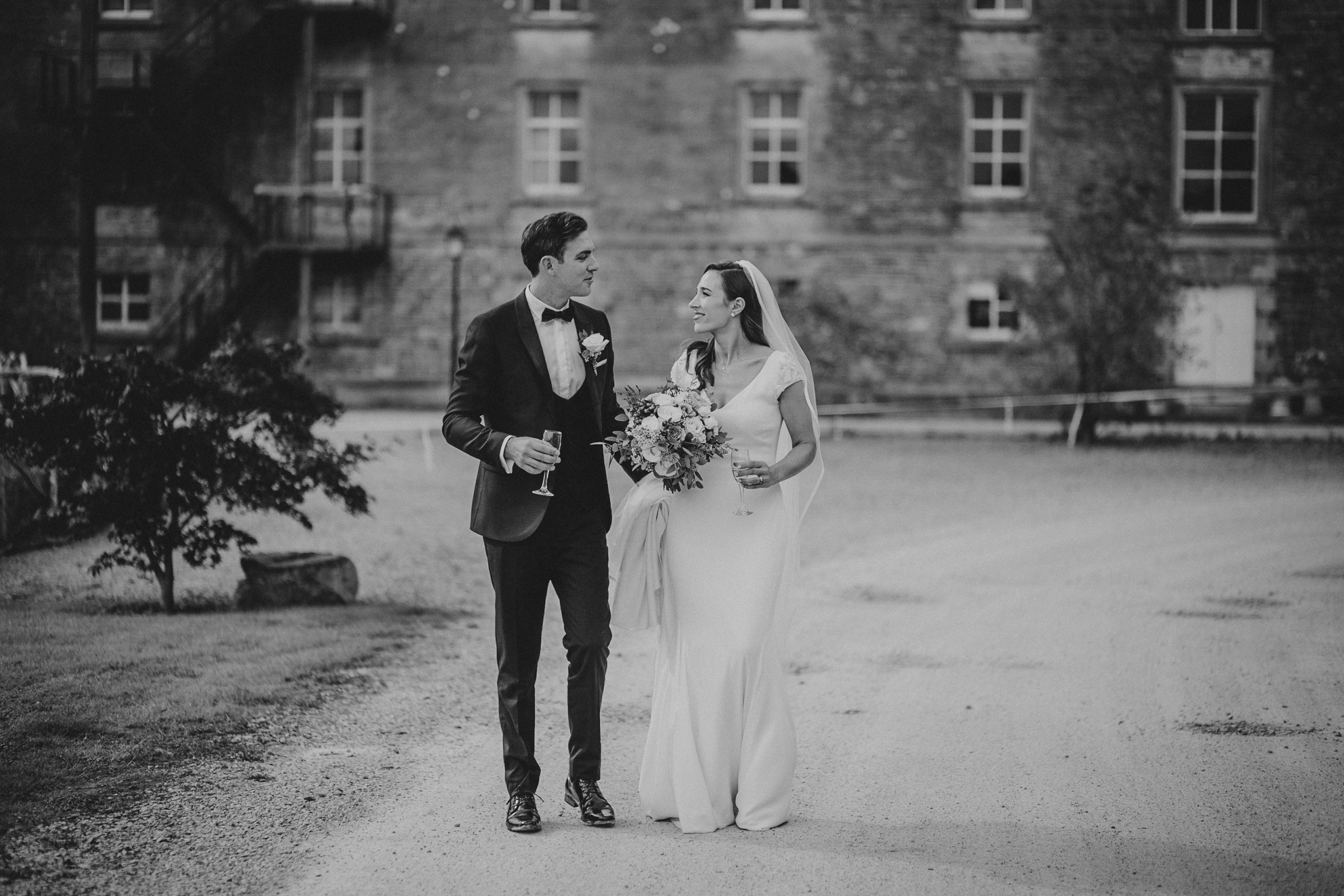 Bride & Groom at the Millhouse, Slane