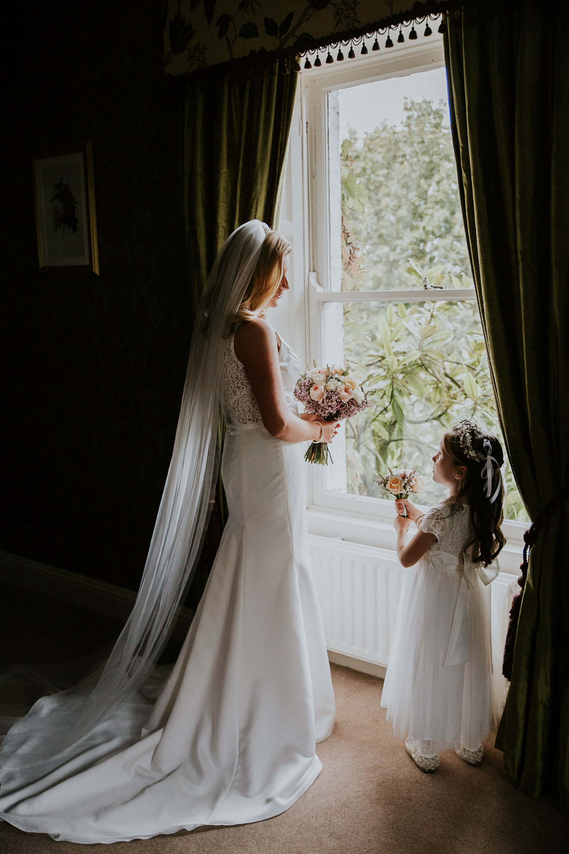 Bride and daughter at Raheen House