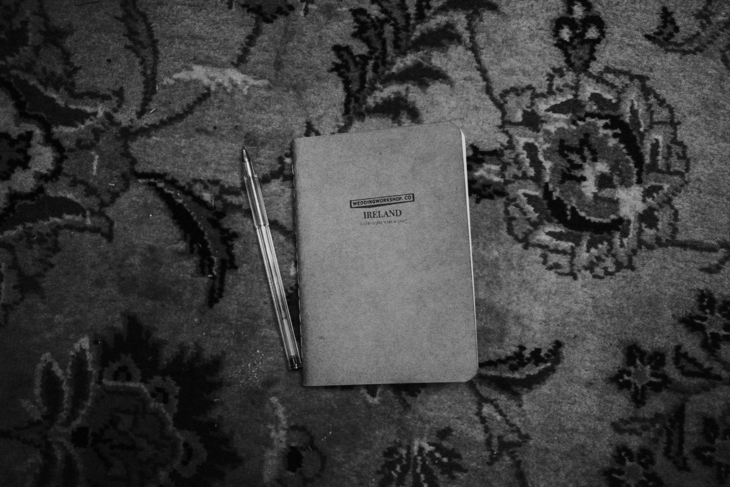 Notebook and pen