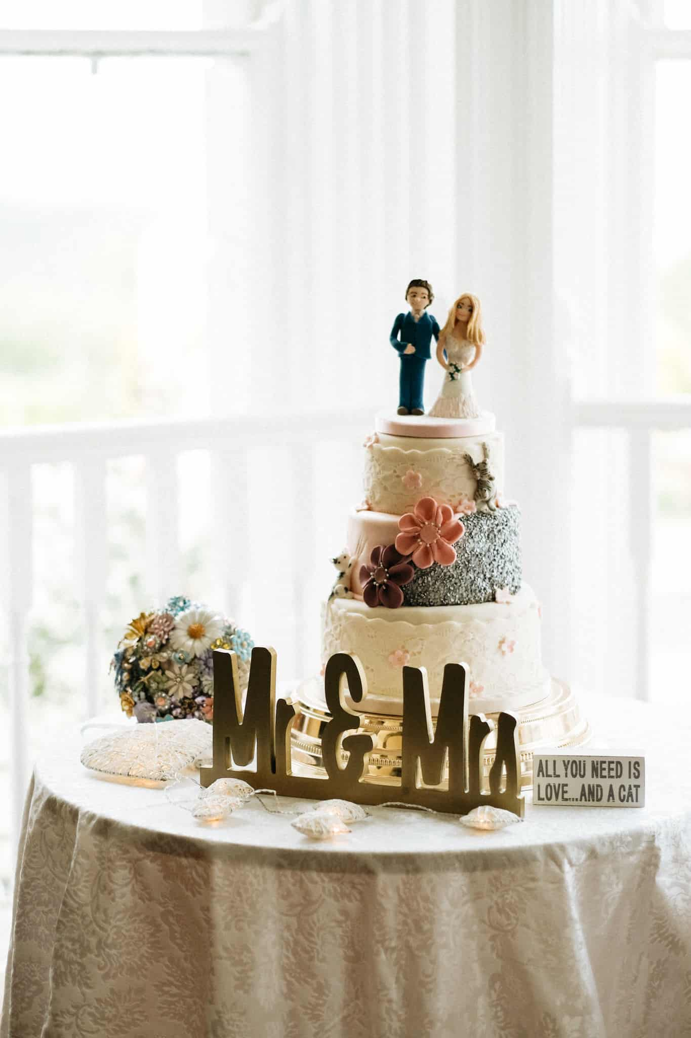 Wedding Cake at The Haven Hotel Waterford