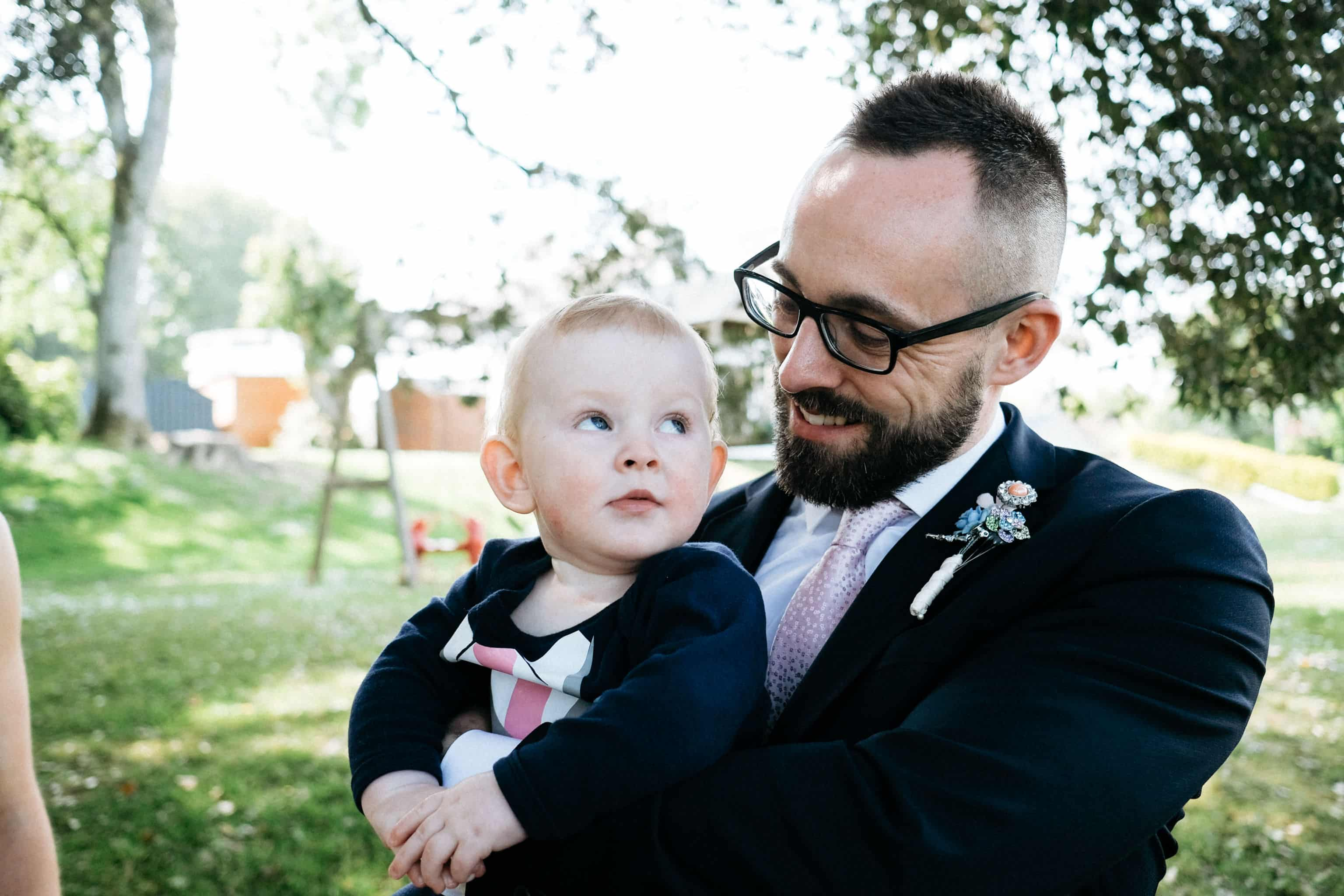 Father and son Wedding day