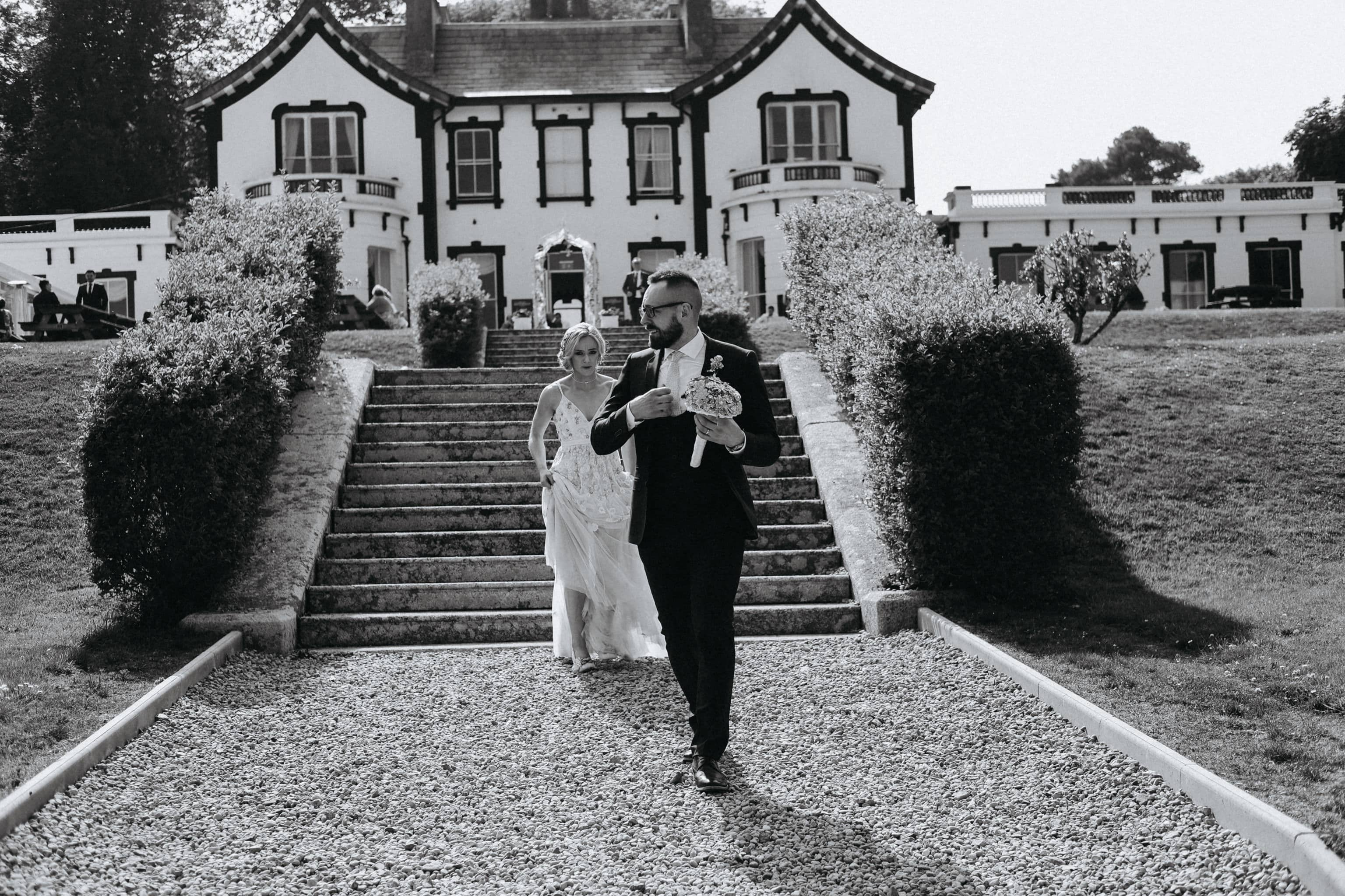 Bride and Groom at the Haven Hotel