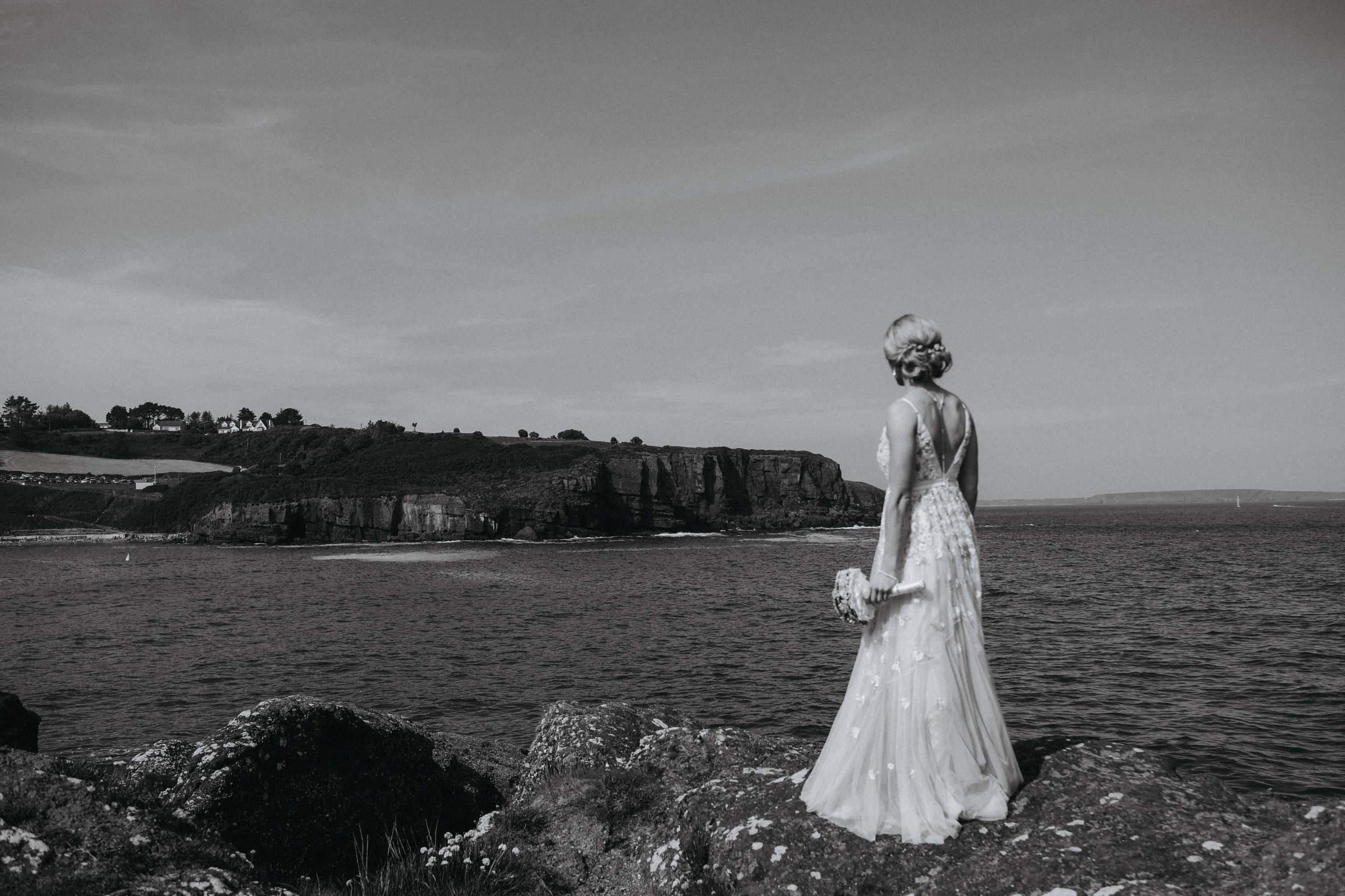 Bride at Dunmore East