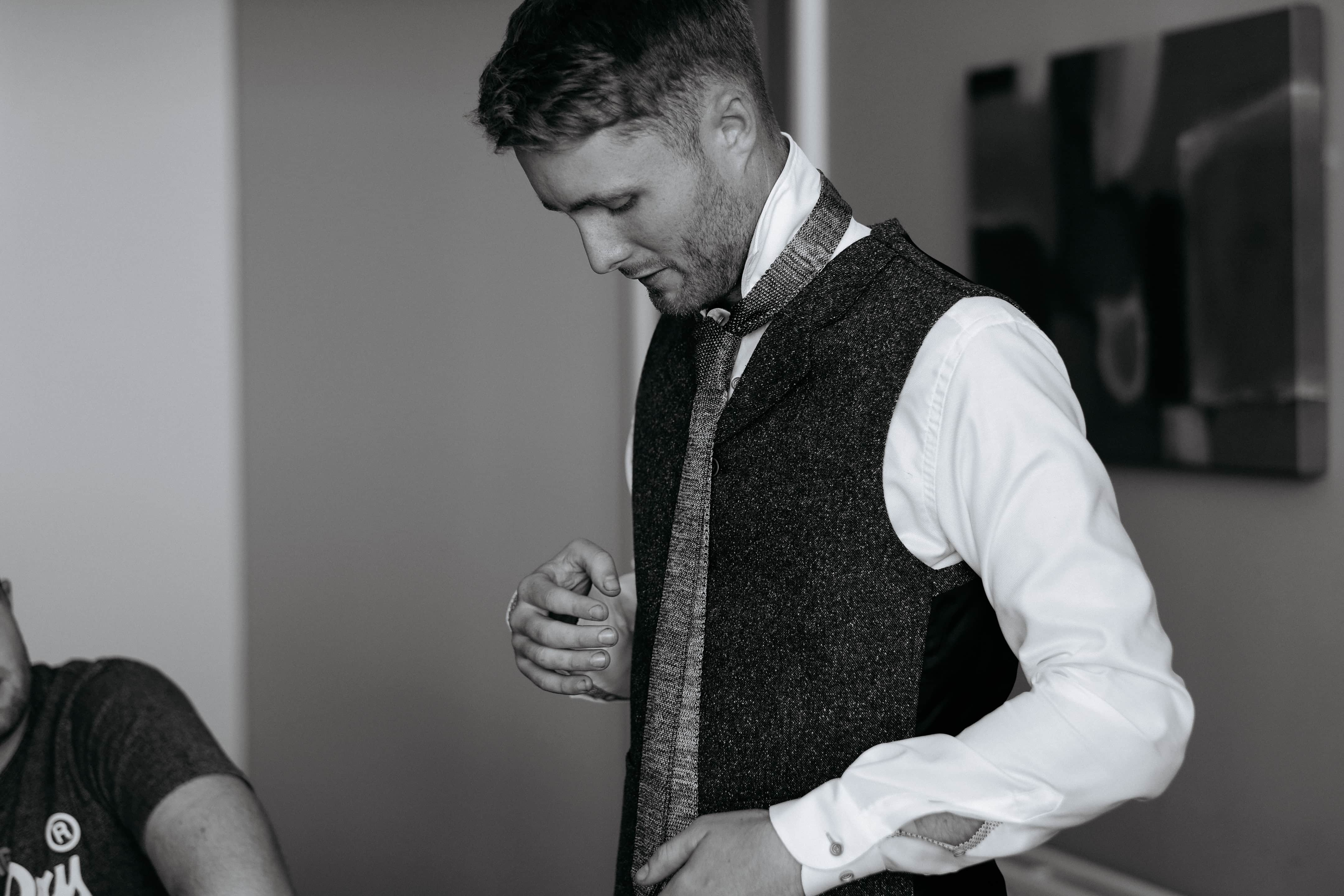 Groom preparations at the Talbot Suites