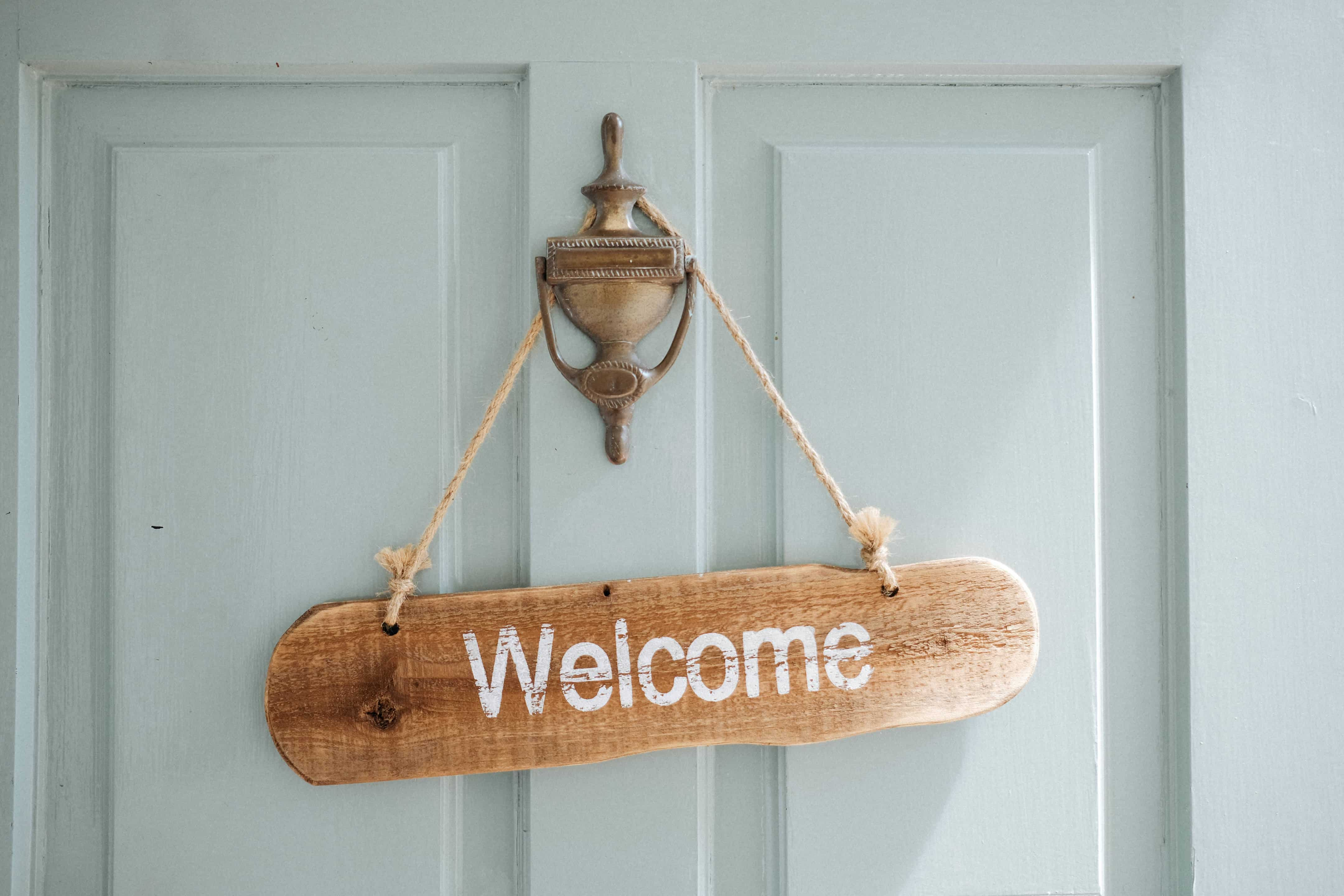 Brides House, welcome sign