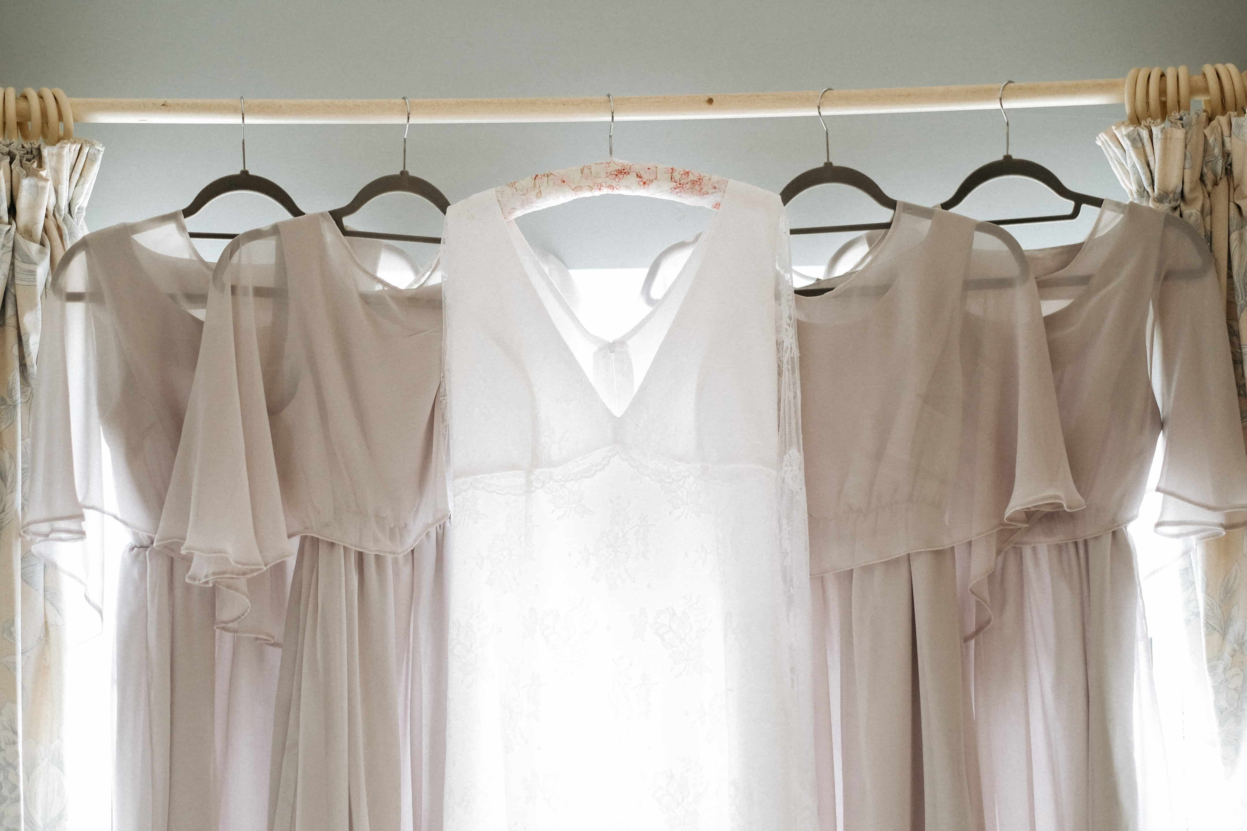 Homemade Bride and bridesmaids dresses