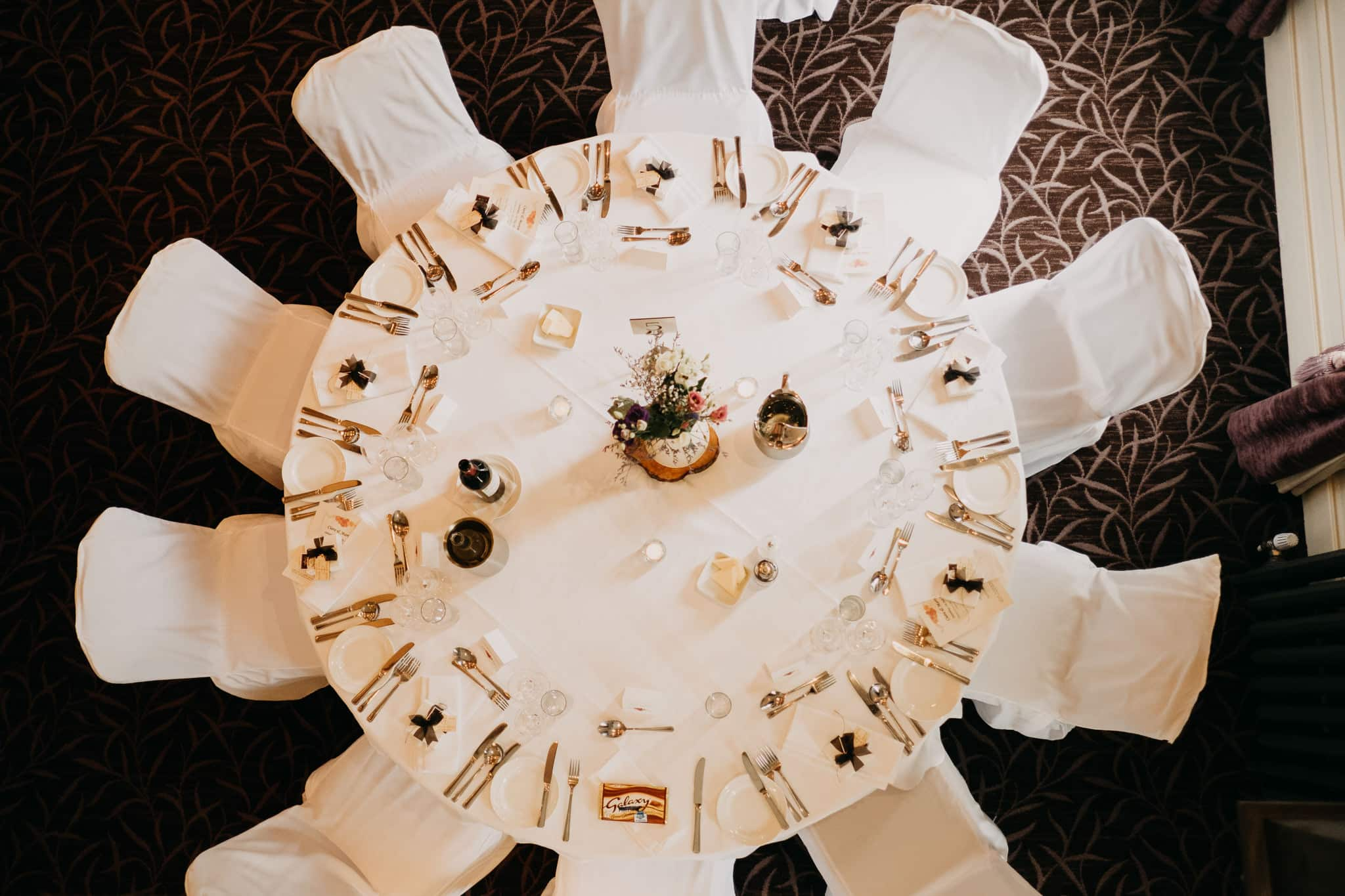 wedding table from above