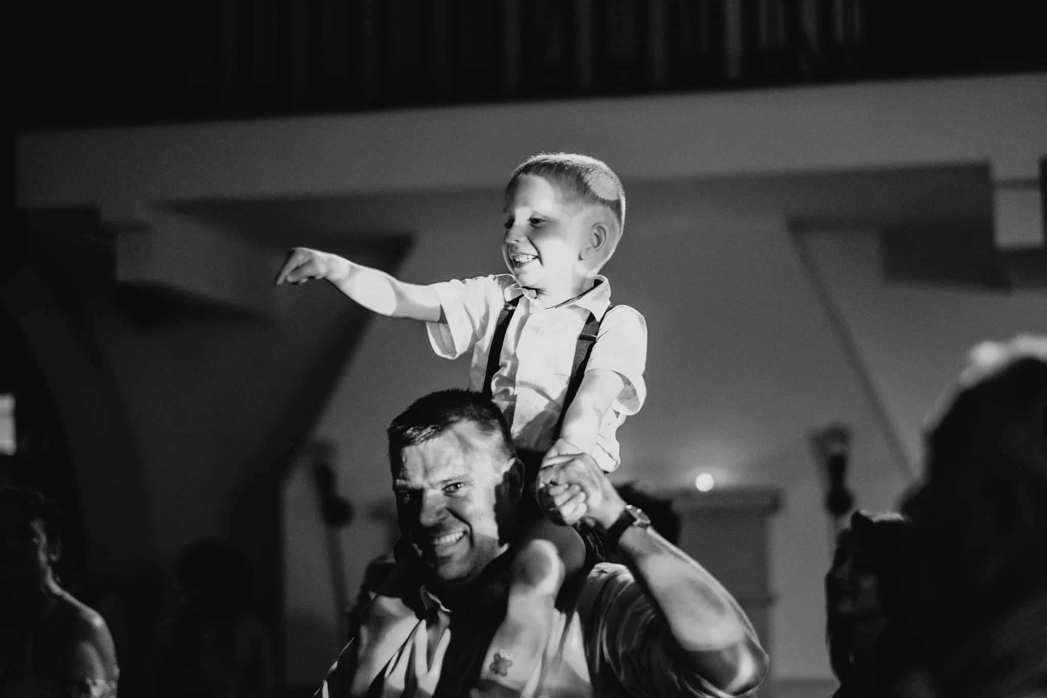 father and child dancing