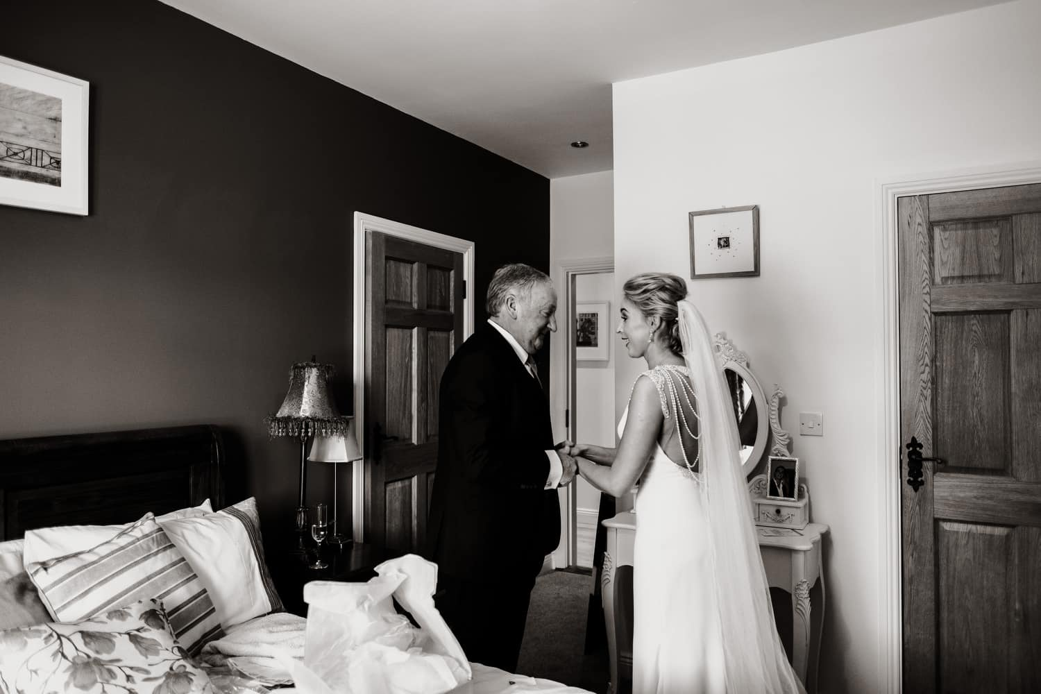 Bride & father first look