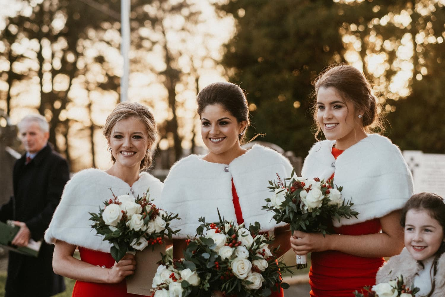 bridesmaids pose for a picture