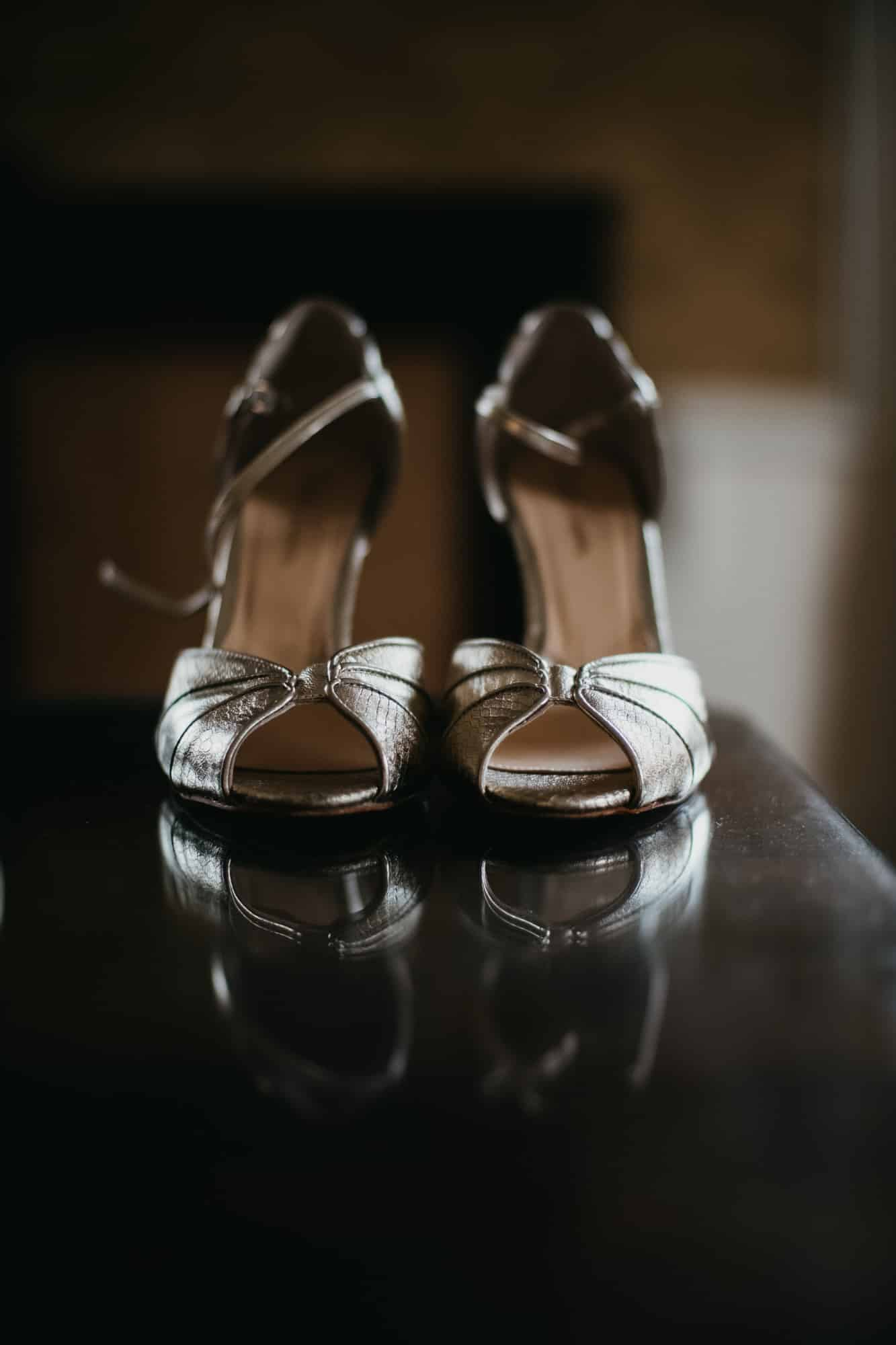 Detail shot of the bride's shoes