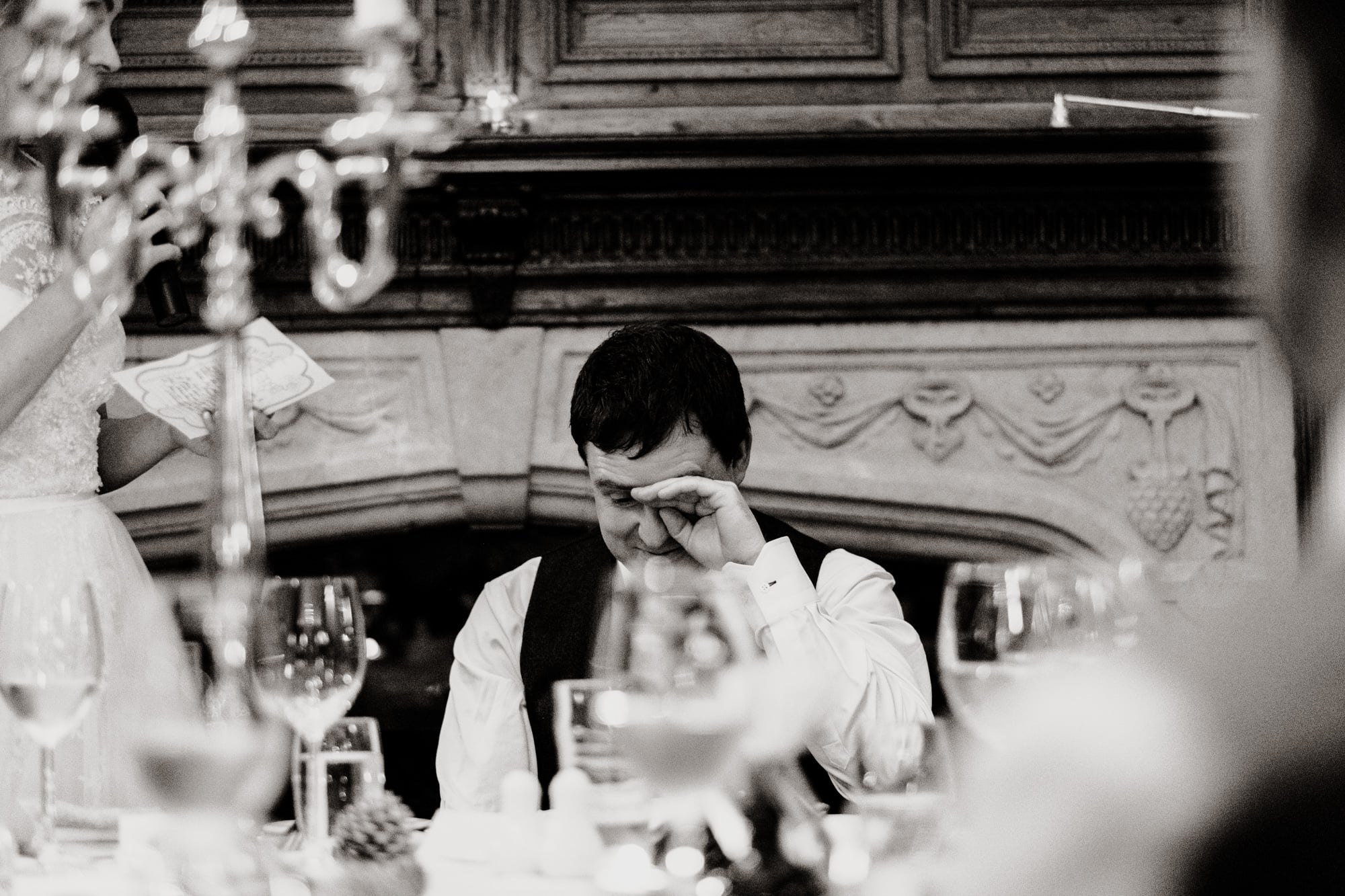 the groom weeps during speeches