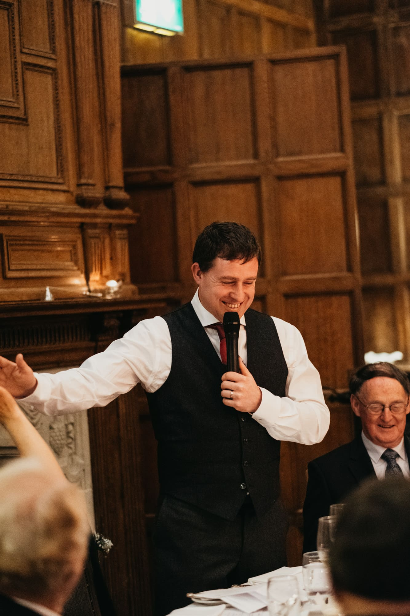 groom delivers his speech